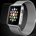 Película de vidrio templado para apple iwatch 38mm 42mm delgado ultra fino cristal caso de smart watch clear screen protector de pantalla protector