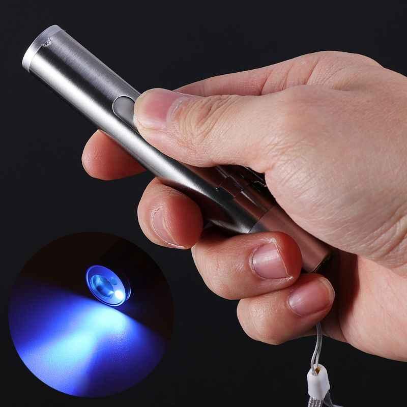 3 In 1 Katze Chaser USB Ladung Pflichtige Spaß Traning Spielzeug Silber Interaktive LED Licht Stift Pointer Taschenlampe Für Gefälschte erkennung