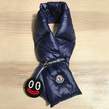 Newest Down Ring Snood Scarves Thermal Thick Warm Scarf 108*14cm Eiderdown Neck Warmer Women Men Inflatable Winter Down Scarf