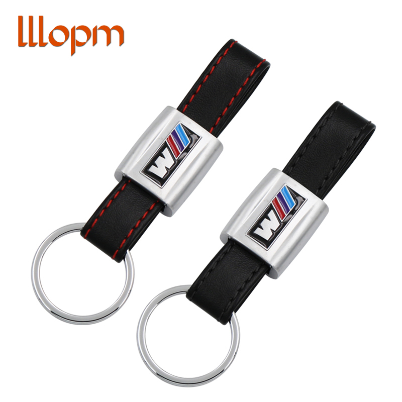 Leather Metal Keychain Key Chain Keyring Ring For BMW M Tech M Sport M3 M5 X1 X3 E46 E39 E60 F30 E90 F10 F30 E36 X5 E53 E30 E34 bmw 1 m sport 2015