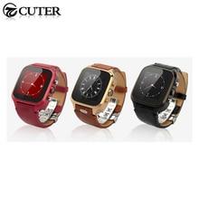 """Lederband Smartwatch W9 1,54 """"IPS Kapazitive Schirm Dual Core 1,3 GHz 1 GB RAM + 8 GB ROM 5.0MP Kamera SIM GPS Smart Uhr"""
