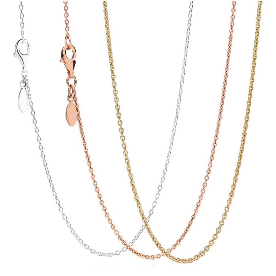 3dc2e2108ad8 Nueva moda elegante collares de diamantes de imitación y colgantes redondos  collar 925 Plata de Ley