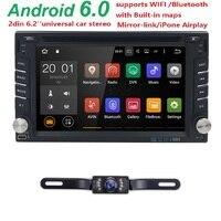 6.2 inch Auto DVD Tablet In Dash Autoradio Capactive Touchscreen auto Dvd-speler Dubbel Din Autoradio AM FM Radio Backup Camera