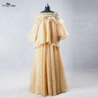 Rse618 Саудовская Аравия мусульманский женское платье фотографии желтый вечернее платье
