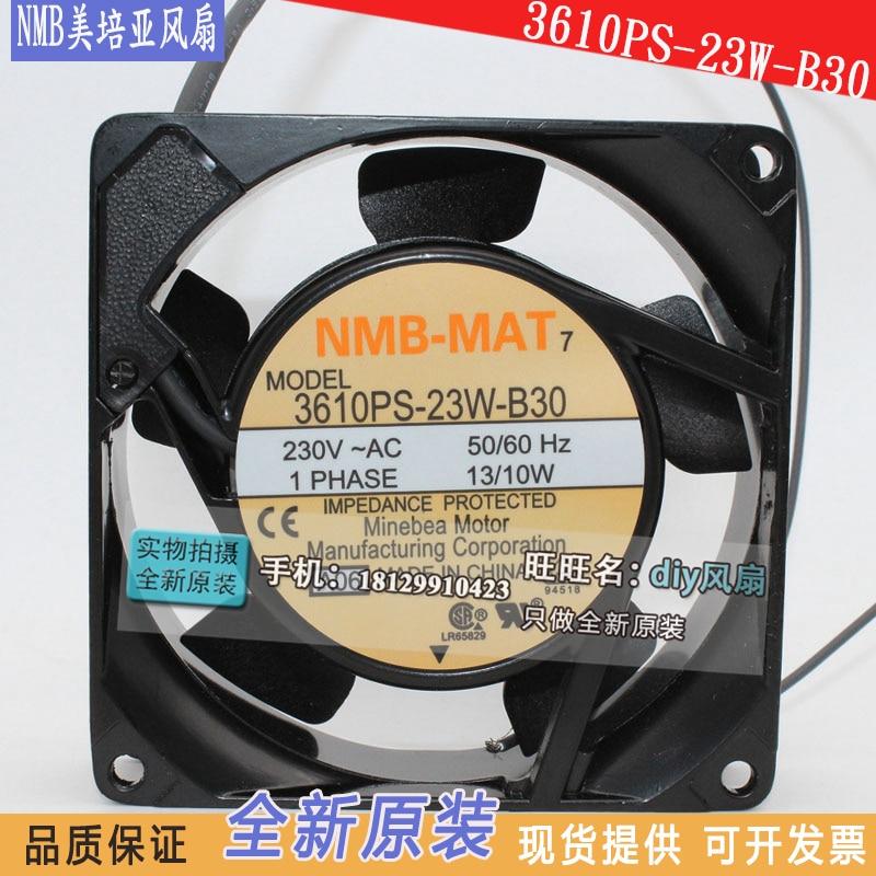 NEW NMB-MAT Minebea 3610PS-23W-B30 9225 220V 230V 13/10W cooling fan nmb 3610kl 05w b49 9225 24v 3 wire cooling fan blower