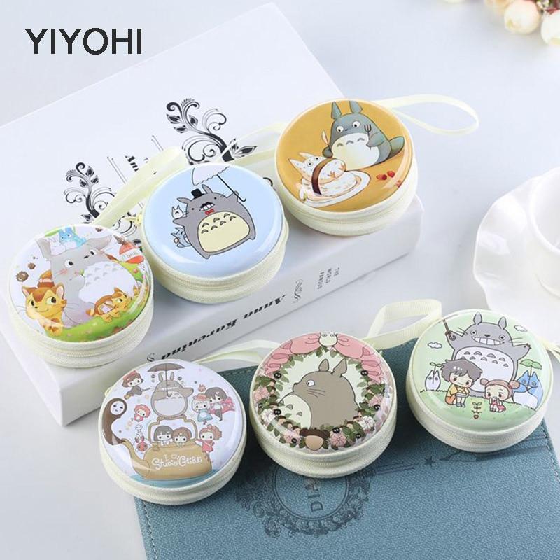 YIYOHI Women Kawaii Totoro Mini Bag Cartoon Totoro  Coin Purse kids Girls Wallet Earphone Box Bags  Wedding Gift  Christmas Gift