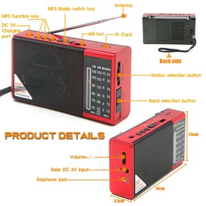 Image 5 - JINSERTA מיני FM AM SW רדיו מקלט אלחוטי Bluetooth רמקול תמיכת TF כרטיס U דיסק לשחק עם 3.5mm אוזניות שקע