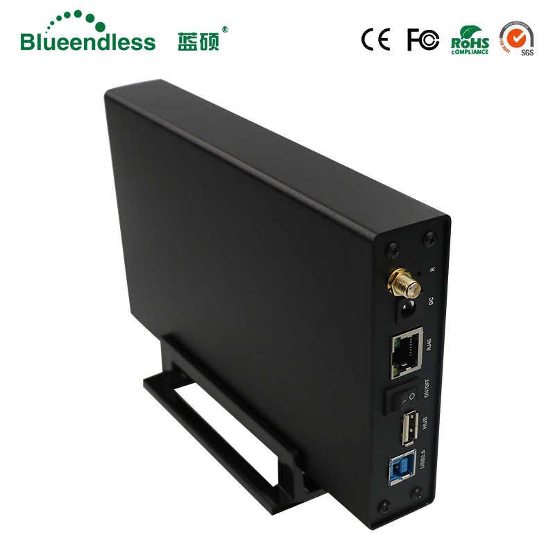 """لاسلكي واي فاي مكرر واي فاي التخزين عالية السرعة موزع إنترنت واي فاي HD Externo Sata إلى USB 3.0 موسع واي فاي HDD العلبة 3.5 """"HDD حالة 3.0"""