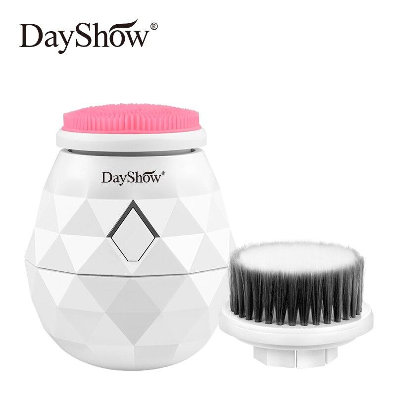 Nouvel Instrument de nettoyage du visage USB Machine à laver Silicone doux ultrasons brosse de nettoyage du visage équipement de peau outils de soins du visage