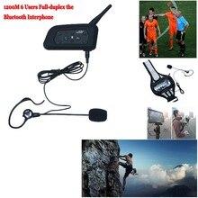 New 1200M Soccer Referee BT Intercom 2User Interphone Headset Support Max 6 Users Full duplex the