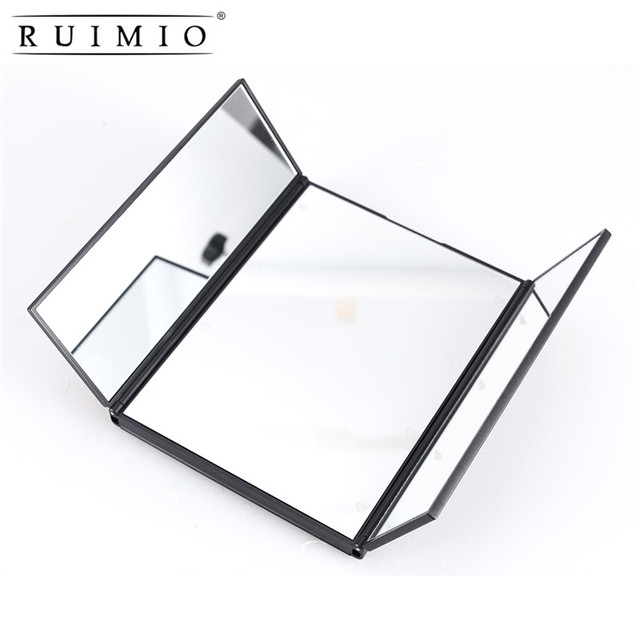 Lighted Led Make Up 3 Folding Makeup Mirror Led Mirrors Illuminating  Foldable Mirror Portable Adjustable