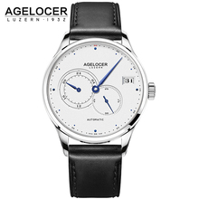 AGELOCER New Luxury Brand Mechanical Watches Business Men Watch Self-Wind Automatic Fashion Waterproof 50m Wristwatch