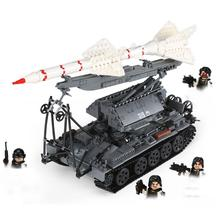 hot military WW2 Soviet army SA-2 tank Heavy tank Missile launch vehicle war MOC Building Block model weapon brick toys for gift pre order resin toys 35040 ww2 russian tank crew free shipping