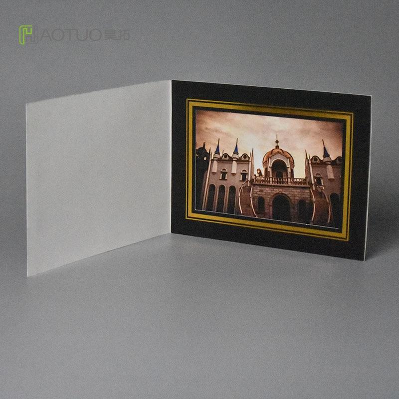 ̿̿̿(•̪ )Haotuo ácido libre cartón carpetas con línea de oro para 4x6 ...