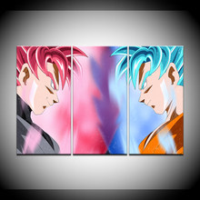 Posters Framework Living Room HD Printed 3 Panel Seven Dragon Ball Character Modern Wall Art Pictures Home Decoration Painting(China)