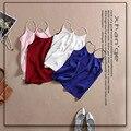 Yeeshan tops de seda cores o-pescoço sem mangas colete de seda de 51% tanques de mulheres de luxo elegante vestido mulheres superiores 2017