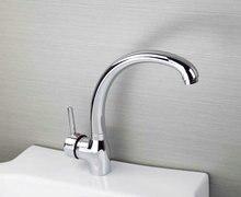 Е-пак Великий ванной бассейна и кухонной мойки смесители Поворотный кран Chrome YS3982