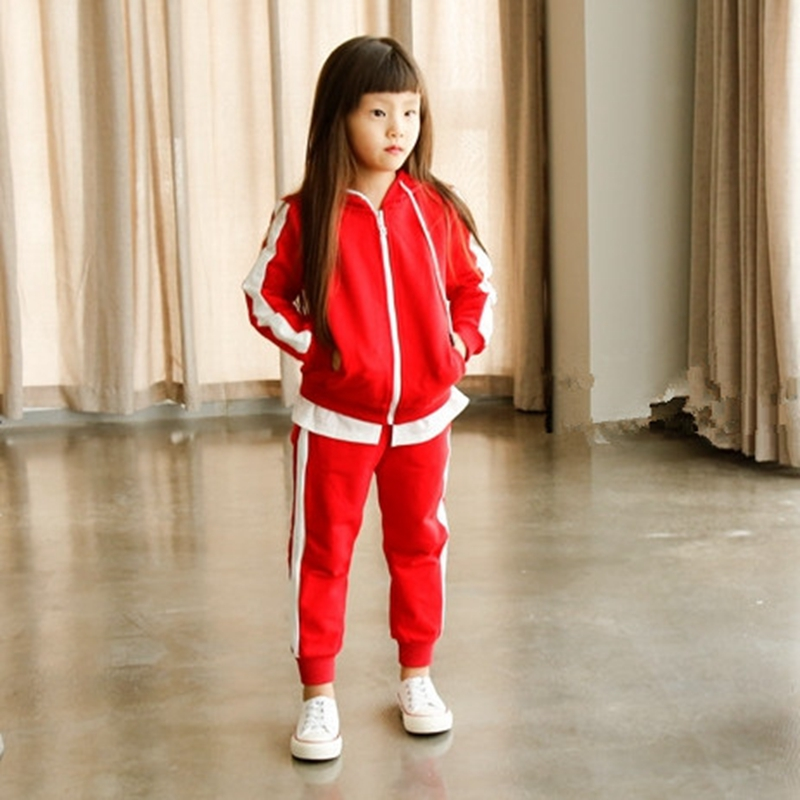 2018 autumn New candy classic suite children's suit, boys and girls fashion leisure two piece, baby suit