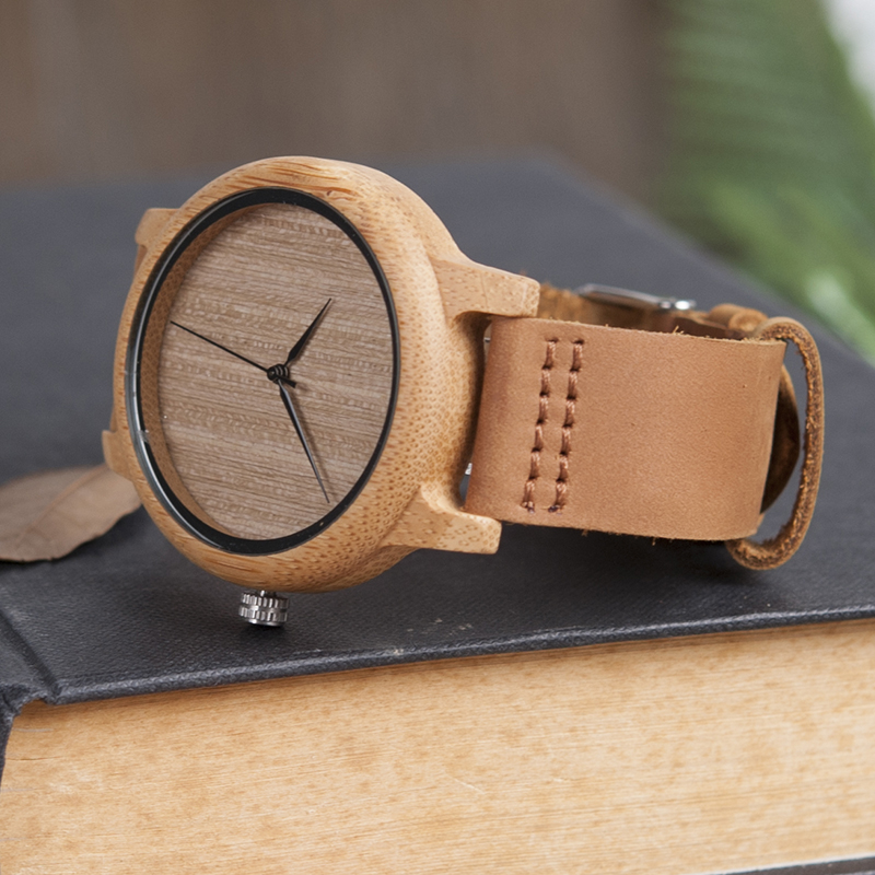 wooden bamboo wrist watch for men and women fashion style (3)