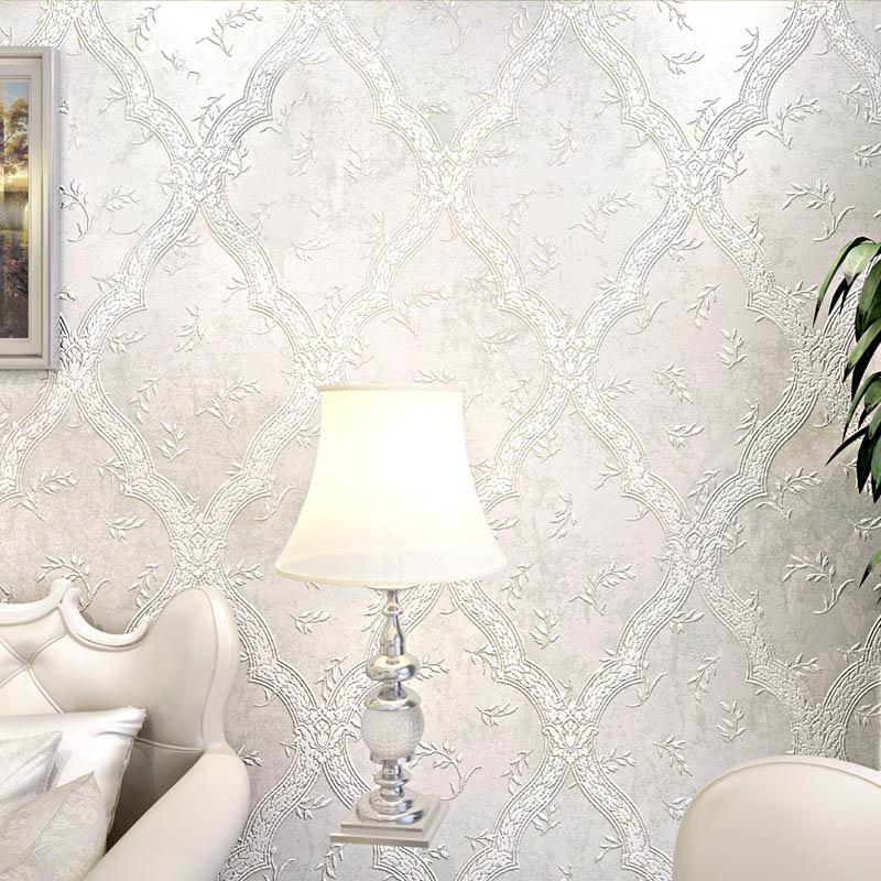 Европейский Стиль дамасской обои 3D ТВ обои для Гостиная исследование Спальня современный нетканые обои бежевый коричневый