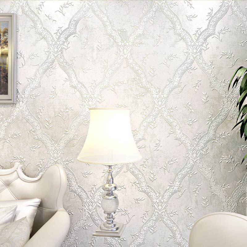 European Style Damask Wallpaper 3D TV Background Wallpapers For Living Room Study Bedroom Modern Non-woven Wallpaper Beige Brown wallpaper for walls 3 d modern trdimensional geometry 4d tv background wall paper roll silver gray wallpapers for living room