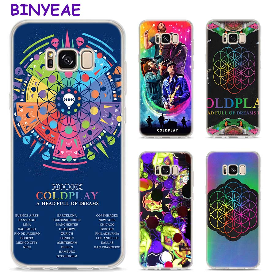 BINYEAE Coldplay A Head Full of Dreams Style Clear Soft TPU Phone Cases For Samsung Galaxy S9 S8 Plus S7 S6 S5 S4 Mini Edge