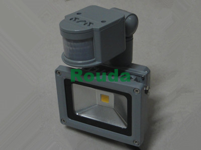 pir 10w led floodlight pir taiwan led 110-120lm/w high quality driver factory derectly