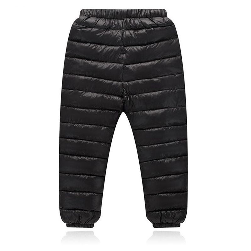 New 6 colors Winter Children Down Trousers Warm Pants Boys Girls Kids Elastic Waist Thick Down Pants leggings Children's Clothes 2018 spring girls and boys fashion loose straight elastic waist plaid cotton pants kids children casual wholesale long trousers