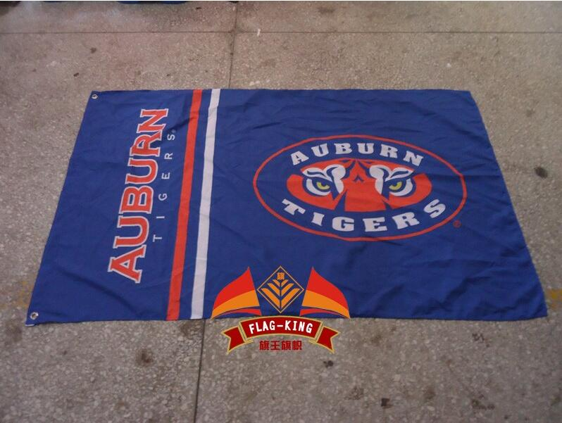 Auburn Tigers College Football Helmet Flag