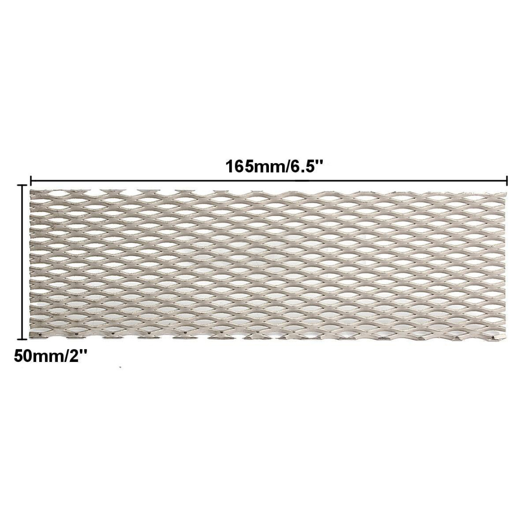 1pc Durable Recycled Metal Silver Titanium Mesh Sheet Electrode Corrosion Resistance 50mm*165mm for Electrolysis Mayitr 1 roll stainless steel woven wire cloth screen filter 120 mesh 125 micron 30x90cm with corrosion resistance