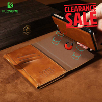 FLOVEME Luxury Business Leather Wallet Case For IPhone X 7 8 Man Mobile Phone Pouch Card