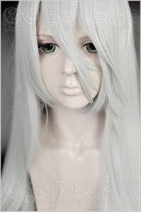 Image 4 - Gioco NieR Automata YoRHa Tipo A No.2 A2 Parrucche di Cosplay Argento Bianco Lungo Resistente Al Calore Parrucca di Capelli Sintetici + Parrucca cap