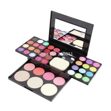 Make Up Palette Set Eyeshadow Lip Gloss Foundation Powder Blusher Puff Tool