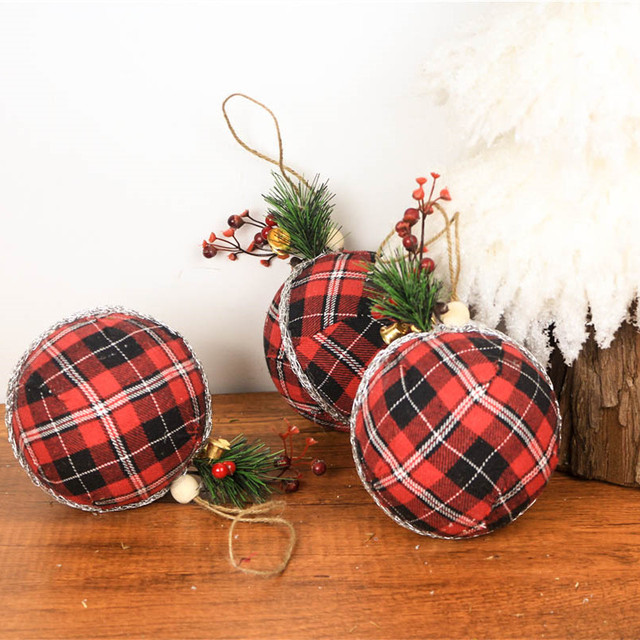 4 7 Christmas Tree Foam Balls Pendant 3pcs Lot New Year S Balls