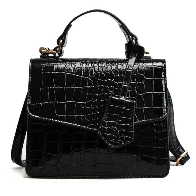 733720710414 US $18.06 40% OFF BARHEE New Alligator Flap Women Small Crossbody Bags  European Fashion Crocodile Patent PU Leather Solid Handbags Sling Bags  Mini-in ...