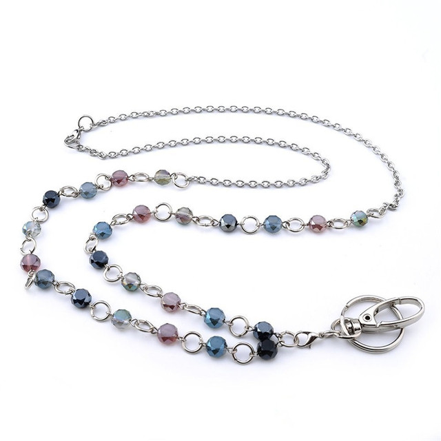 Fashion crystal lanyards necklaces id lanyard womens elegant fashion crystal lanyards necklaces id lanyard womens elegant lanyard necklace beaded id badge holder jewelry aloadofball Gallery