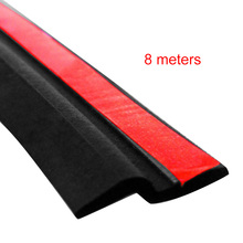 8M Z Type Car Rubber Seal Sound Insulation Filler Adhesive Door Weatherstrip Rubber Seals Trim High Density Seal Strip