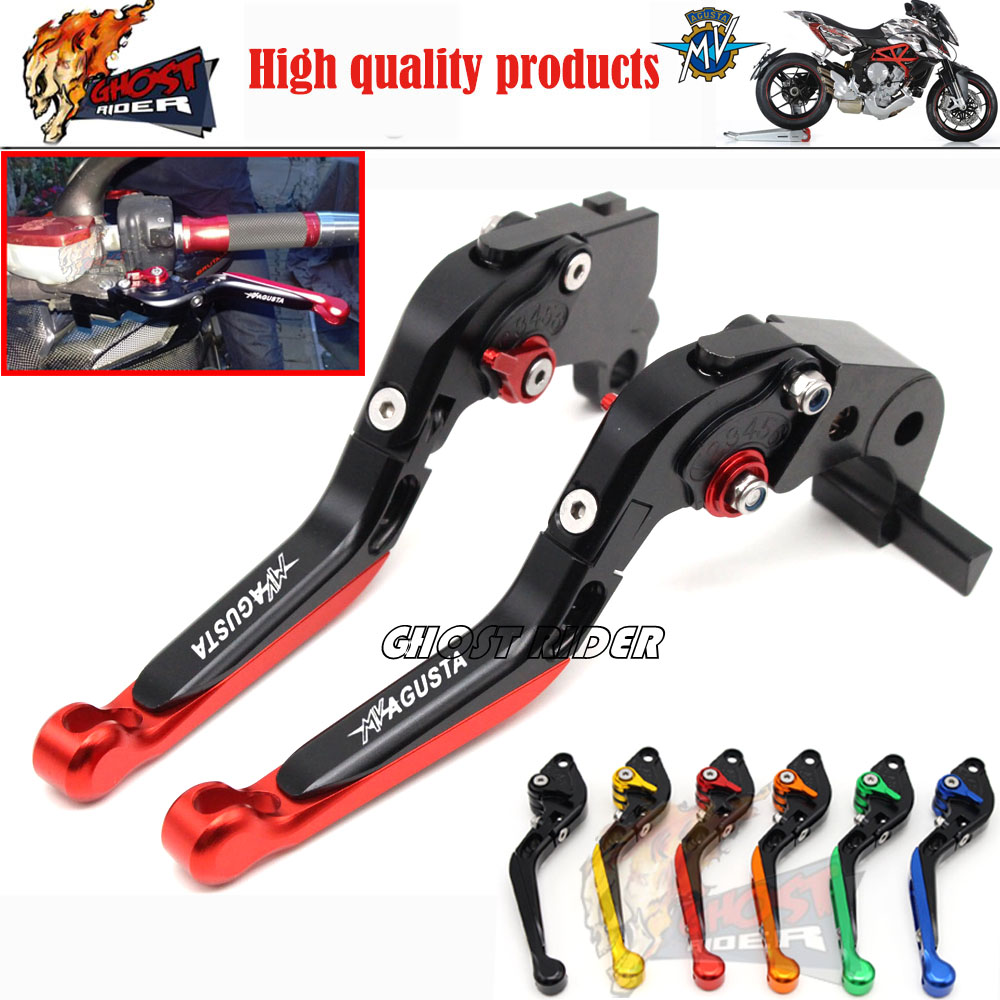 ФОТО Motorcycle Accessories Adjustable Folding Extendable Brake Clutch Levers fits For MV AGUSTA Brutale 675 800