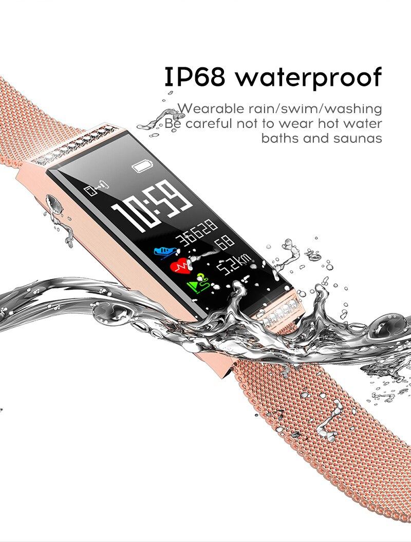MAFAM Smart Bracelet Women Watch Waterproof Fitness Tracker Heart Rate Blood Pressure Sports Smart Band Notification Reminder (16)