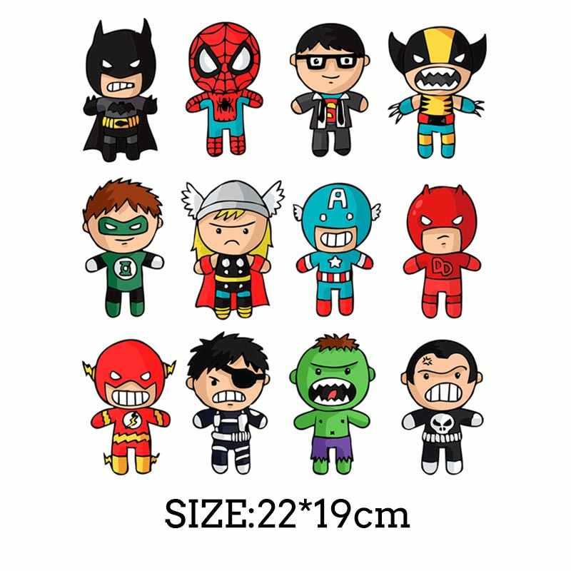 COSBILL การ์ตูน Marvel แพทช์สำหรับเสื้อผ้า DIY พิมพ์เสื้อยืดเด็กเหล็กบน Transfer ล้างทำความสะอาดได้ Superhero ความร้อน Patch Y-216