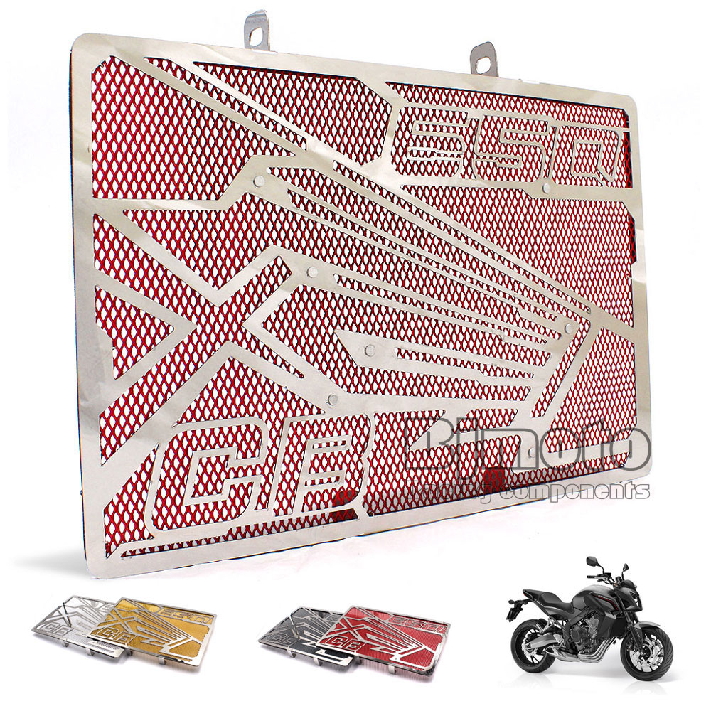 BJMOTO Motorcycle Stainless Steel Radiator Guard Cover Protector For Honda CB650F 2014 2015 2016 2017 CBR650F 2014-2017 цена