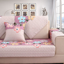 Sofa cushion four seasons universal, non-slip simple household cotton cushion, all-inclusive universal cover towel
