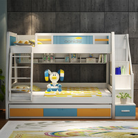 modern minimalist children bed high and low bed mother and son bunk bed adult solid wood furniture