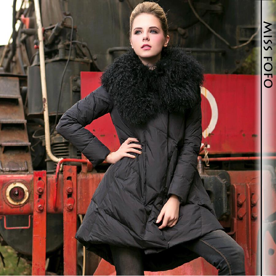 90% Duck down 2015 new winter women's Elegant Feminine down jacket ...