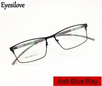 82a3b80931 Eyesilove hombres Anti-Rayo Azul miopía gafas mujeres anti-azul luz gafas  ultra-luz prescripción gafas- -0,50 a-6,00
