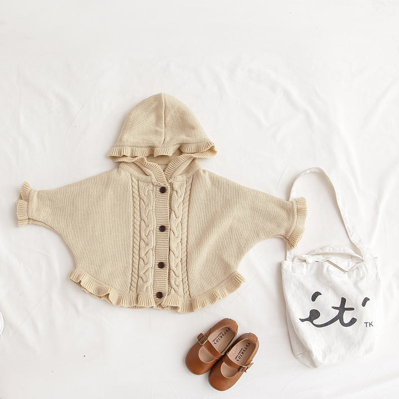 aeed2c160 Girl Bat Sleeve Sweater Baby Girls Cardigan Toddler Twist Sweater ...
