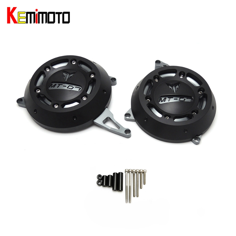 KEMiMOTO FZ07 MT 07 Engine Stator Case Cover Engine Protective Cover Protector For YAMAHA MT-07 MT07 FZ-07 FZ 07 2014 2015-2017 for yamaha fz 07 mt 07 engine stator case cover engine protective cover protector mt07 fz07 2014 2016 blue