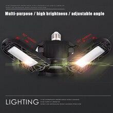60W E27 Led Deformable Lamp Garage light LED Home Lighting High Intensity Parking Warehouse Industrial #