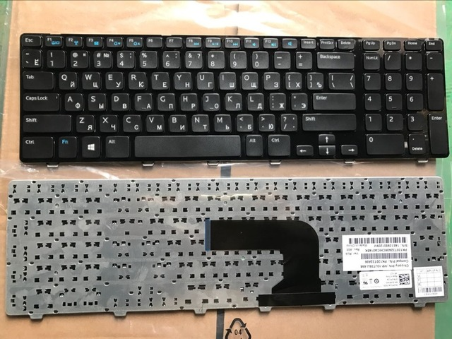 Russian RU Keyboard For DELL 17R 3721 3737 17R-5721 N3721 N5721 5721 5737 5357 M731R 5735 V119725BS1 black