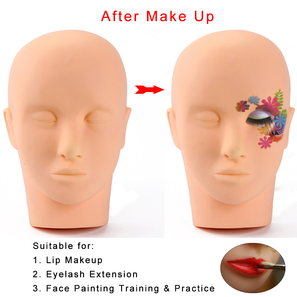 pro high quality soft skin head massage and makeup face training